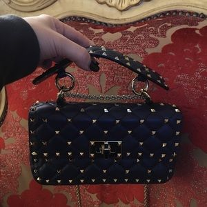 Authentic Valentino rockstud spike chain bag